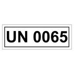 UN-Verpackungskennzeichen mit UN 0065