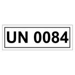 UN-Verpackungskennzeichen mit UN 0084