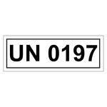 UN-Verpackungskennzeichen mit UN 0197