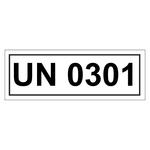UN-Verpackungskennzeichen mit UN 0301