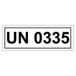 UN-Verpackungskennzeichen mit UN 0335