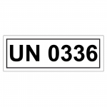 UN-Verpackungskennzeichen mit UN 0336