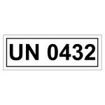 UN-Verpackungskennzeichen mit UN 0432