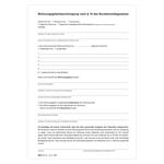 Wohnungsgeberbescheinigung 2 Seiten DIN A4 10-er Pack