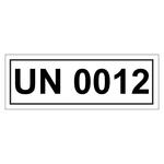UN-Verpackungskennzeichen mit UN 0012
