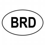 "Autoaufkleber ""oval"" mit BRD"