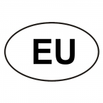"""Autoaufkleber """"oval"""" mit EU"""