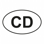 "Autoaufkleber ""oval"" mit CD"