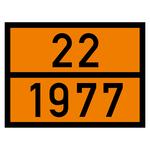Warntafel orange mit 22-1977