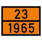 Warntafel orange mit 23-1965