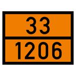 Warntafel orange mit 33-1206