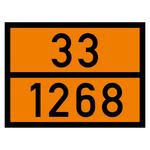 Warntafel orange mit 33-1268