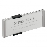 Durable Türschild INFO SIGN, 149 x 52,5 mm, metallic silber