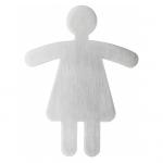 Durable WC-Symbol Damen, 90 x 120 mm, metallic silber