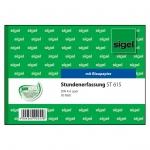 Sigel® Stundenerfassung -  A6 quer, MP, BL, 50 Blatt