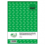Sigel® Bewirtungsspesennachweis/Gaststättenrechnung, 2seitig bedruckt, A5hoch, 50Blatt