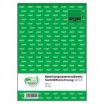 Sigel® Bewirtungsspesennachweis/Gaststättenrechnung - A5, 2seitig bedruckt, MP, 50 Blatt