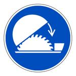 """Gebotszeichen """"Schutzhaube der Tischkreiss�ge benutzen"""" ISO 7010, M031 Folie selbstklebend � 200 mm"""