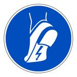 """Gebotszeichen """"Antistatisches Schuhwerk benutzen"""" ISO 7010, M032 Folie selbstklebend � 100 mm"""