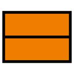 Warntafel orange ohne Nummerneindruck