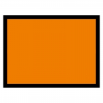 Warntafel orange blanko