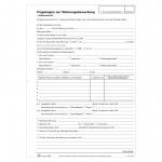 Fragebogen zur Wohnungsbewerbung 10er Pack