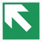 Richtungsangabe Richtungspfeil schräg / diagonal - Rettungszeichen BGV A8 Folie selbstklebend 148 x 148 mm