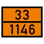 Warntafel orange mit 33-1146