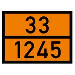 Warntafel orange mit 33-1245