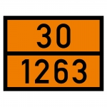 Warntafel orange mit 30-1263