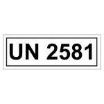 UN-Verpackungskennzeichen 14 x 5,5 cm mit UN 2581
