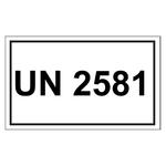 UN-Verpackungskennzeichen 10 x 6 cm mit UN 2581