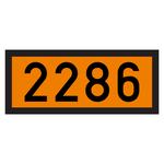 Warntafel orange mit UN 2286