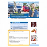 10er Pack Fahreranweisung Gesund und sicher unterwegs