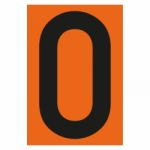 """""""Zahl 0- einzeln"""" Nummer für Warntafel aus Folie selbtklebend"""