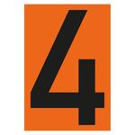 """""""Zahl 4- einzeln"""" Nummer für Warntafel aus Folie selbtklebend"""
