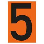 """""""Zahl 5- einzeln"""" Nummer für Warntafel aus Folie selbtklebend"""