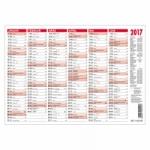 25er Pack Tafelkalender mit Namenstagen für 2017 DIN A4 quer