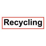 "Hinweisschild ""Recycling"" Folie selbstklebend 400 x 120 mm"
