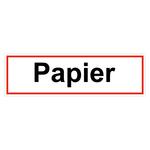 """Hinweisschild """"Papier"""" Folie selbstklebend 400 x 120 mm"""