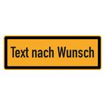 "Warnschild ""Text nach Wunsch"" 210 x 74 mm"
