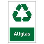 """Recycling-Aufkleber """"Altglas"""""""