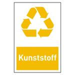 "Recycling-Aufkleber ""Kunststoff"""