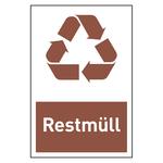 """Recycling-Aufkleber """"Restmüll"""""""