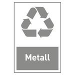 "Recycling-Aufkleber ""Metall"""