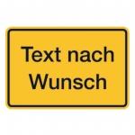 """Warnschild """"Aufdruck nach Wunsch"""" Kunststoff 300 x 200 mm"""