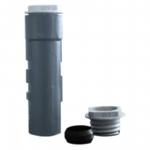 Bodenhülse grauguß, Länge: 500 mm für Rohrpfosten Ø 60 mm