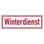"""Fahrzeugschild """"Winterdienst"""" Magnetfolie reflektierend"""