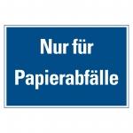 """Recycling-Aufkleber """"Nur für Papierabfälle"""""""