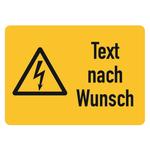 """Hinweisschild Kombischild """"Text nach Wunsch"""" 52 x 37 mm"""